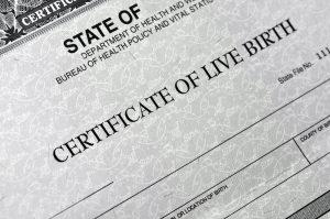 Certificado de Nacimiento en EE. UU.