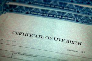 Acta de nacimiento americana