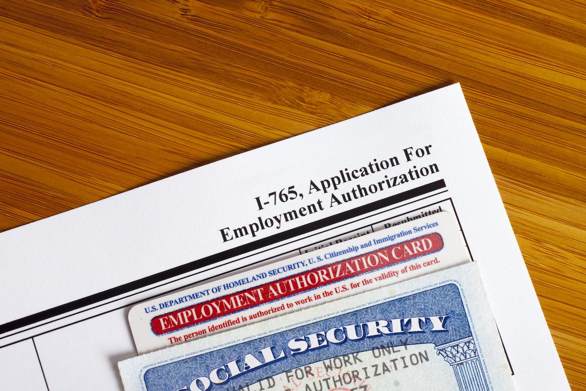Solicitud del Documento de Autorización de Empleo (EAD) en E.U.A.